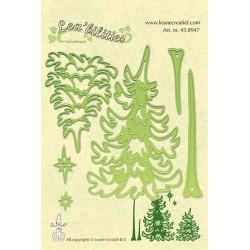 Универсални шаблони за рязане и релеф елхи - Lea'bilities - Pine tree