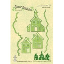 Универсални шаблони за рязане и релеф къщи - Lea'bilities - Houses