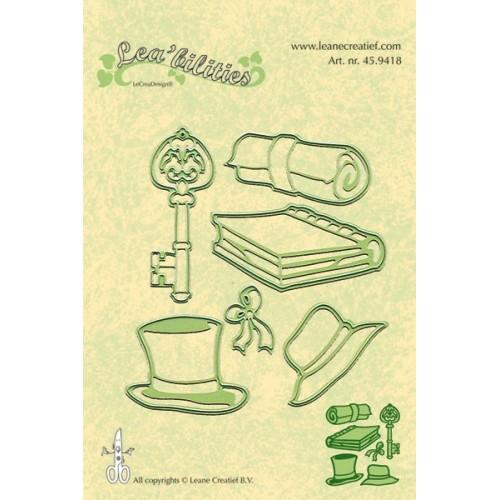 Универсални шаблони за рязане и релеф книга, ключ, папирус, шапка и капела - Lea'bilities -  Special Occasions 2