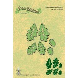 Универсални шаблони за рязане и релеф жълъди и дъбови листа - Lea-bilities Die - Autumn Leaves