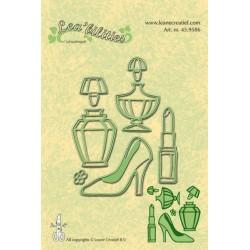 Универсални шаблони за рязане и релеф парфюми, червило, обувка - Leabillites Stencil - Ladies Things