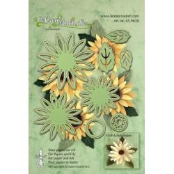 Универсални шаблони за рязане и релеф слэнчоглед - Lea'billities - Flower