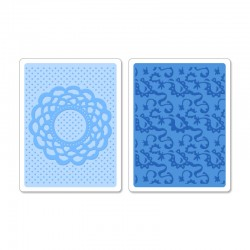 Папка за ембосинг - Sizzix - Sizzix Textured Impressions Embossing Folders 2PK - Doily & Lace Set