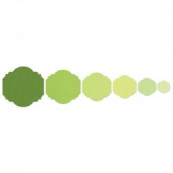 Щанца за изрязване надпис/банер/етикет - Sizzix - Sizzix Framelits Die Set 6PK - Labels, Majestic #2