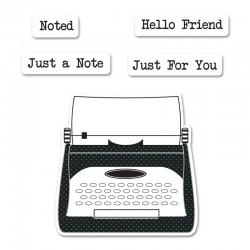 Комплект щанци с печати печатна машина - Sizzix Framelits Die Set 4PK w/Stamps - Noted