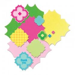Щанци за изрязване етикети/ тагове/ рамки с печати - Sizzix Framelits Die Set 7PK w/Stamps - Charming