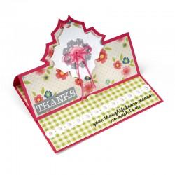 Щанца за изрязване основа за картичка - Sizzix Framelits Die Set 15PK - Card, Charming Stand-Ups
