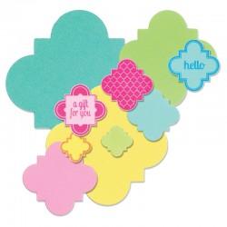 Щанци за изрязване етикети/ тагове/ рамки с печати - Sizzix - Framelits Die Set 6PK w/Stamps - Playful