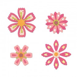 Тънки метални щанци - Sizzix Thinlits Die Set 14PK - Flowers Intricate by Paula Pascual