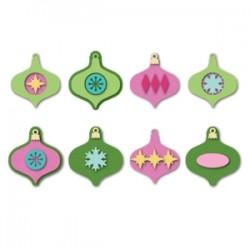 Тънки метални щанци - Sizzix Triplits Die Set 9PK - Ornaments