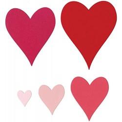 Универсална щанца за рязане - Sizzix Framelits Die Set 5PK - Hearts #2