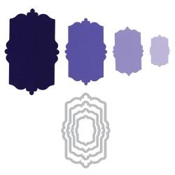 Универсална щанца за рязане - Sizzix Framelits Die Set 4PK - Labels, Fancy #3