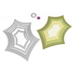 Универсални щанци за рязане - листа от джел с плодчета - Sizzix Framelits Die Set 6PK - Leaves, Holly & Berry