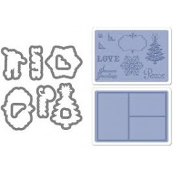 Универсална щанца за рязане - Sizzix Framelits Die Set 9PK w/Textured Impressions - Collage Frames Set