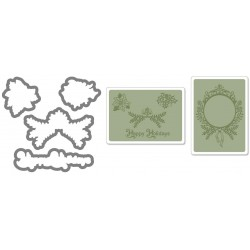 Универсална щанца за рязане - Sizzix Framelits Die Set 4PK w/Textured Impressions - Ornament Set #2