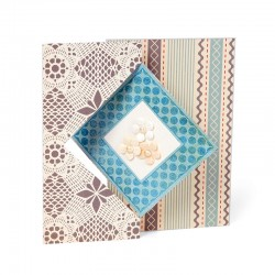 """Щанца за изразване на картичка """"диамант"""" - Sizzix - Sizzix Movers & Shapers L Die - Card, Diamond Flip-its"""