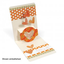 Sizzix Pop 'n Cuts XL Die Set - Card, Horizontal A2 w/Circle Label, 3-D (Pop-Up)