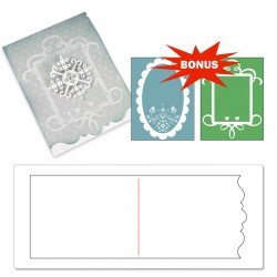 Sizzix Bigz XL Die w/Bonus Textured Impressions - Card, Ornate #3 and Frames Set
