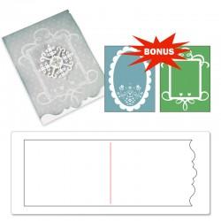 Sizzix Bigz XL Die w/Bonus Textured Impressions - Card, Ornate #3 and Frames Set