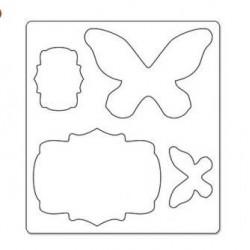 Щанца - Sizzix Bigz Die - Butterflies & Labels by Karen Burniston