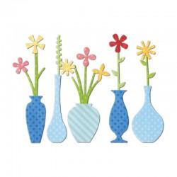 Шаблон за изрязване - Sizzix Thinlits Die Set 18PK - Flower Vases