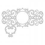 Шаблон за изрязване - Sizzix Thinlits Die Set 2PK - Decorative Border & Heart