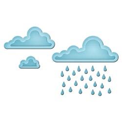 Универсален шаблон за изрязване и релеф - Spellbinders - Rainy Day In Spire - Shapeabilities