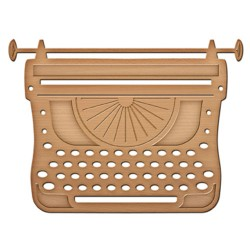 Универсален шаблон за изрязване и релеф - Spellbinders - Typewriter In Spire - Shapeabilities
