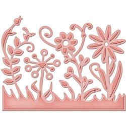Универсален шаблон за изрязване и релеф - Spellbinders - Flower Burst