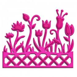 Универсален шаблон за изрязване и релеф - Spellbinders - Flower Box