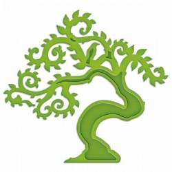 Универсален шаблон за изрязване и релеф - Spellbinders - Bonsai Tree