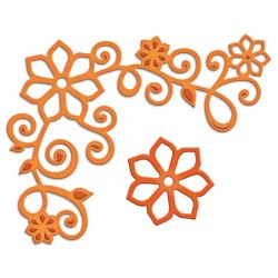 Универсален шаблон за изрязване и релеф - Spellbinders - Floral Corner One