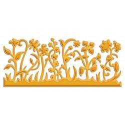 Универсален шаблон за изрязване и релеф - Spellbinders - Floral Border