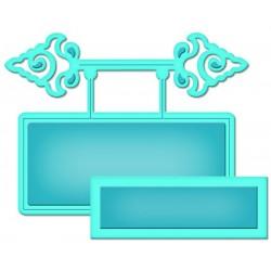 Универсален шаблон за изрязване и релеф - Spellbinders - Ornamental Tags Two