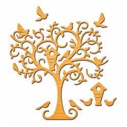 Универсален шаблон за изрязване и релеф - Spellbinders - Delightful Tree