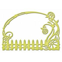 Универсален шаблон за изрязване и релеф - Spellbinders - Floral Fence