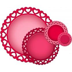 Универсален шаблон за изрязване и релеф - Spellbinders - Heart Circles