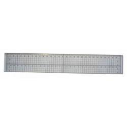 Линия със стоманен накрайник - 300мм х 50мм - Steel Edged Craft Ruler
