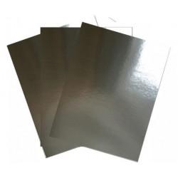Огледален картон / огледални листи А4, сребро - 10бр.