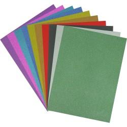 Хартия холограмна А4 с брокатен ефект - 10 цвята