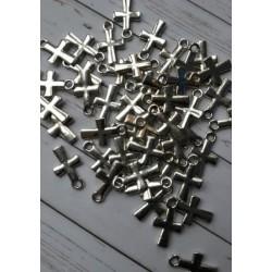 Кръстчета, 8х10 - сребро - 50бр.