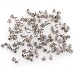 Мини метални айлетс - сребро - 25бр.