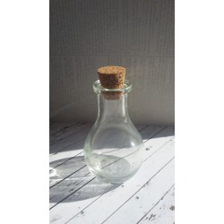 Стъклено шишенце с коркова тапа 100х50мм (с тапата)