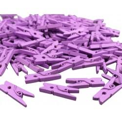 Мини дървени щипчици 3х25мм - лилави - 10 броя