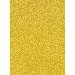 Качествен брокатен картон - златен (жълто злато) - A4 - Glitter Card - Gold - 220гр.