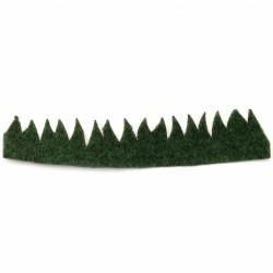 Трева за декорация с размер - 210x40 мм - зелена