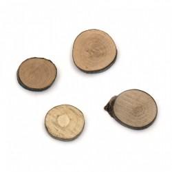 Дървени шайби с размери - Шайба дърво 35-40 мм x 5 мм - 10бр.
