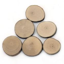 Дървени шайби с размери - 35-50мм x 5 мм - 5бр.