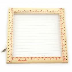 Дървен стан за тъкане с размери - 250x250 мм + пирончета