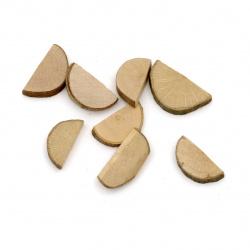 Комплект от 20бр. полушайби - дървени - 1 х 2см х 0.5см